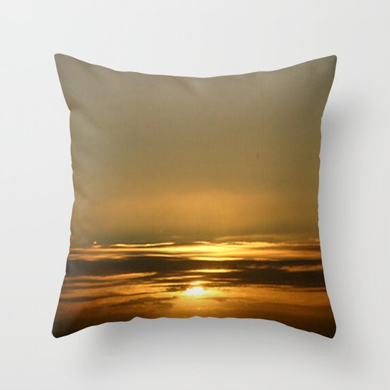 Layers of golden Sunsets Throw Pillow