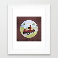 #HoneyHunter Framed Art Print