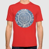 Diamond And Doodle Manda… Mens Fitted Tee Red SMALL
