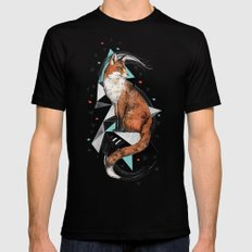 Foa the Fox Mens Fitted Tee Black SMALL