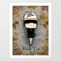Black Tea Girl Art Print