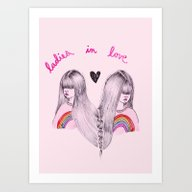 Ladies In Love Art Print