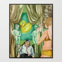 Golden Shower Canvas Print