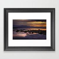 Sunset Over Arran Scotla… Framed Art Print