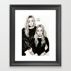mary kate  and ashley Framed Art Print