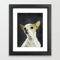 KC the Dog Framed Art Print