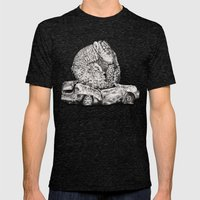 An Inelegant Armadillo Mens Fitted Tee Tri-Black SMALL