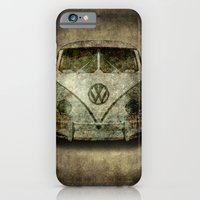Classic VW  micro bus with battle scars and a distressed patina iPhone 6 Slim Case