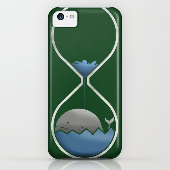 whale hourglass iPhone & iPod Case