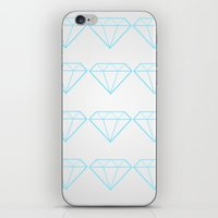 Diamonds Are A Girls Bes… iPhone & iPod Skin