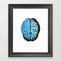Bird Brain Framed Art Print