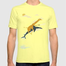 Onward! Mens Fitted Tee Lemon SMALL