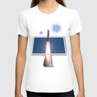Take Me To The Stars Womens Fitted Tee White SMALL