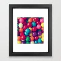 Gumball Fun Framed Art Print
