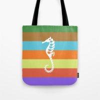 sea side story: seahorse   Tote Bag