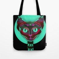 Black CAT- Black Tote Bag