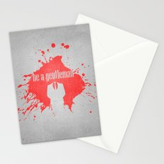 be a gentleman Stationery Cards