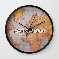 Wanderlust Map Wall Clock