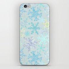 icy snowflakes iPhone & iPod Skin