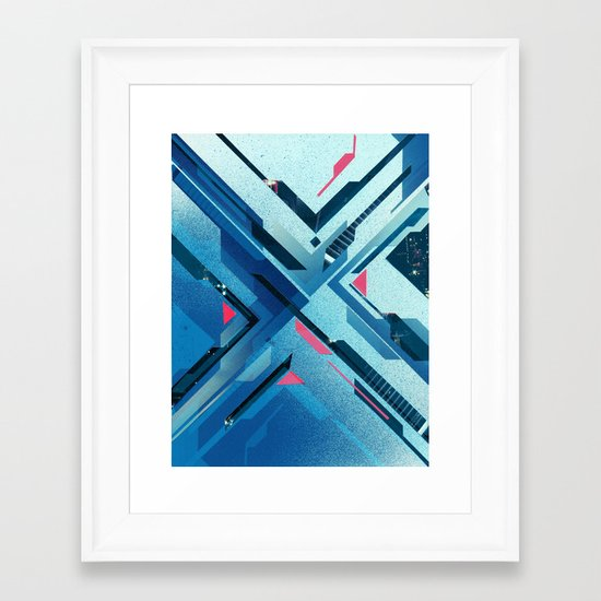Geometric - Collage Love Framed Art Print