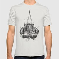 DARK GLOVES Mens Fitted Tee Silver SMALL