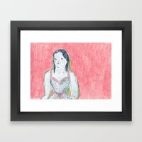 The Girl Is Waiting Framed Art Print