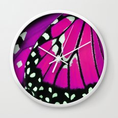 Butterfly wing Wall Clock
