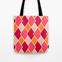 Big Harlequin Diamonds: RED Multi Tote Bag