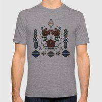 Tribal 2 Mens Fitted Tee Athletic Grey SMALL