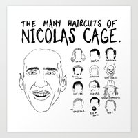 The Many Haircuts Of Nic… Art Print