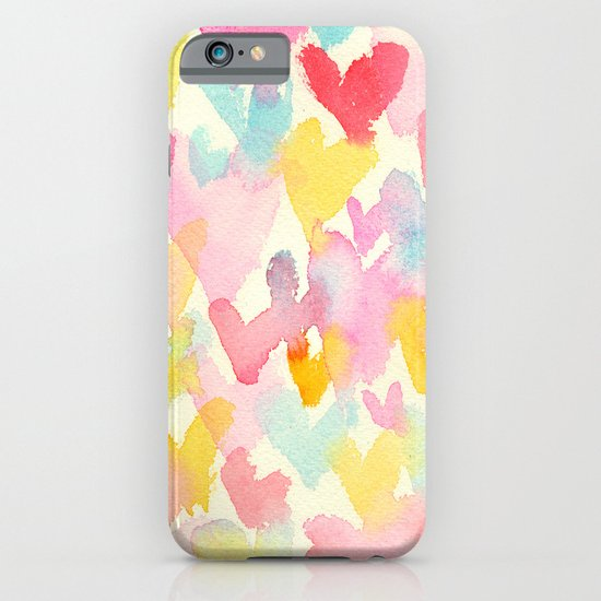 heart watercolor iPhone & iPod Case