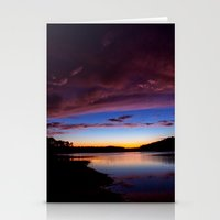 Sunset Over The Lake Stationery Cards