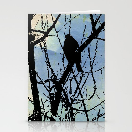 on a Winter's wing... Stationery Card