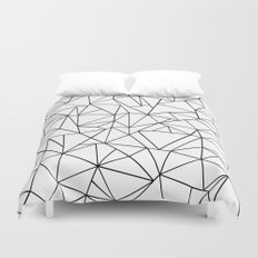 Abstract Outline Black on White Duvet Cover