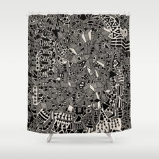 - blackout - Shower Curtain