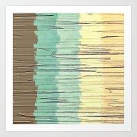 Shreds of Color 2 Art Print