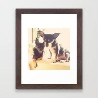 Charlie & Lucie Framed Art Print