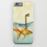 iPhone & iPod Case featuring periscope goldfish by vin zzep