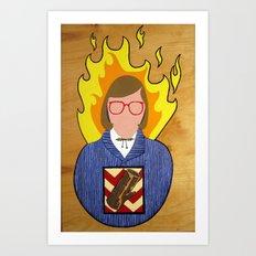 Log Lady (unframed) Art Print