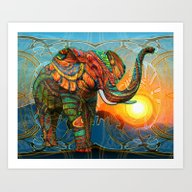Art Print featuring Elephant's Dream by Waelad Akadan