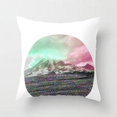 Mount Wisdom [cropped] Throw Pillow