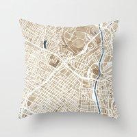 Los Angeles California City Map Throw Pillow
