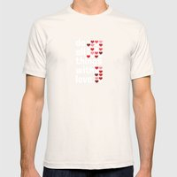 Do All Things With Love Mens Fitted Tee Natural SMALL