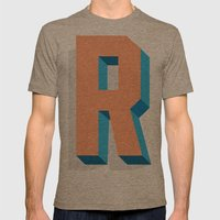 Letter R Mens Fitted Tee Tri-Coffee SMALL