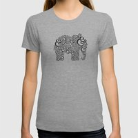 Ampersand Elephant Womens Fitted Tee Athletic Grey SMALL