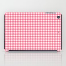 Picnic Pals gingham in strawberry iPad Case