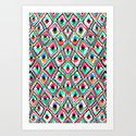 Watercolour Ikat Art Print