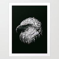 Bald Eagle (Cracked series) Art Print