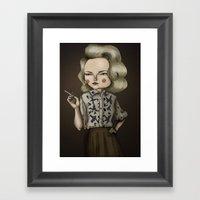 Betty Draper (Mad Men) Framed Art Print
