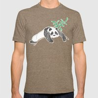 Lazy Panda Mens Fitted Tee Tri-Coffee SMALL